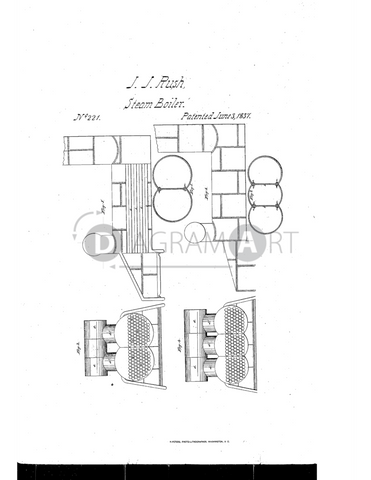 USPTO Patent_0000221 , Free Sketch - Diagramart Author, DiagramArt