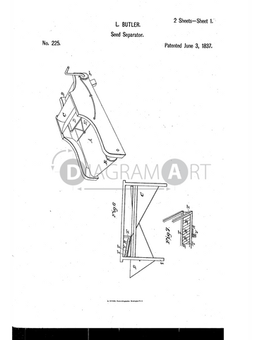 USPTO Patent_0000225 , Free Sketch - Diagramart Author, DiagramArt