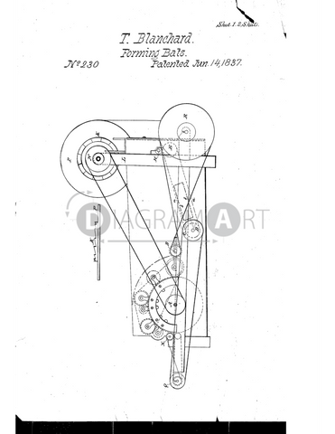 USPTO Patent_0000230 , Free Sketch - Diagramart Author, DiagramArt