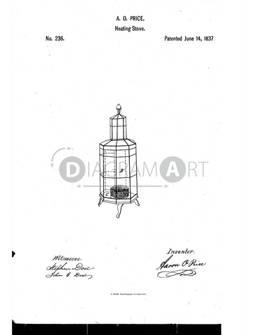 USPTO Patent_0000236 , Free Sketch - Diagramart Author, DiagramArt