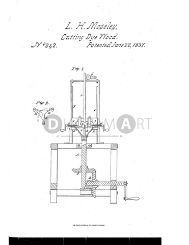USPTO Patent_0000242 , Free Sketch - Diagramart Author, DiagramArt