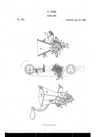 USPTO Patent_0000243 , Free Sketch - Diagramart Author, DiagramArt