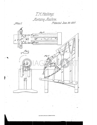 USPTO Patent_0000247 , Free Sketch - Diagramart Author, DiagramArt