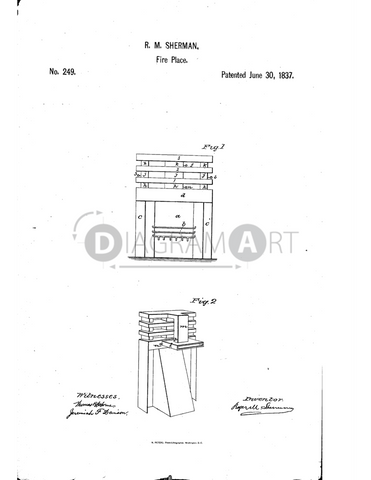 USPTO Patent_0000249 , Free Sketch - Diagramart Author, DiagramArt