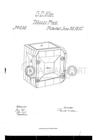 USPTO Patent_0000250 , Free Sketch - Diagramart Author, DiagramArt