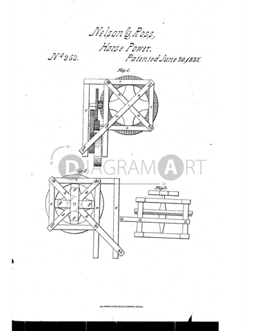 USPTO Patent_0000252 , Free Sketch - Diagramart Author, DiagramArt