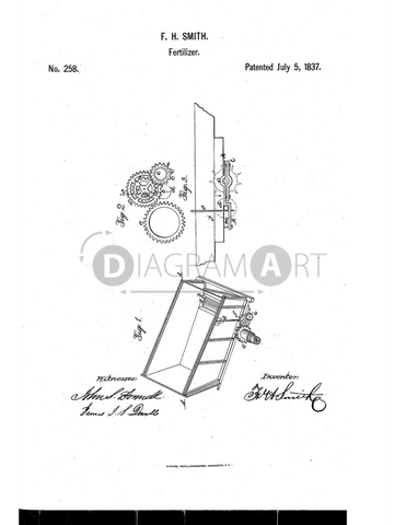 USPTO Patent_0000258 , Free Sketch - Diagramart Author, DiagramArt
