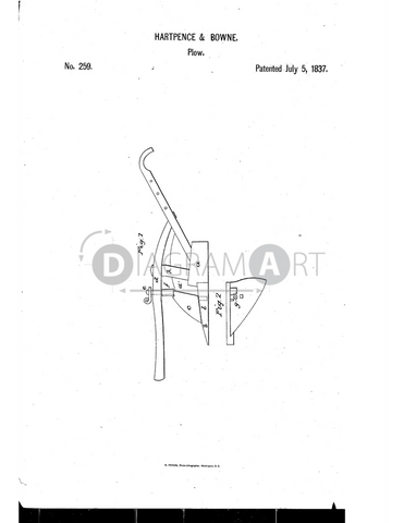 USPTO Patent_0000259 , Free Sketch - Diagramart Author, DiagramArt