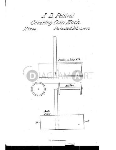 USPTO Patent_0000266 , Free Sketch - Diagramart Author, DiagramArt
