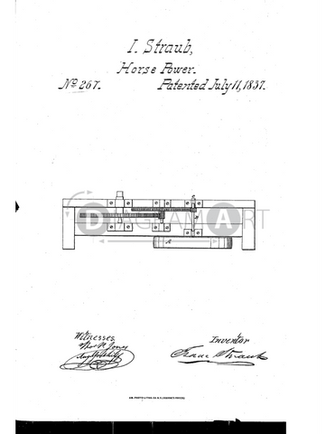 USPTO Patent_0000267 , Free Sketch - Diagramart Author, DiagramArt
