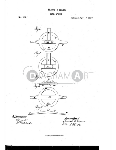 USPTO Patent_0000279 , Free Sketch - Diagramart Author, DiagramArt