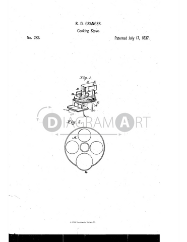 USPTO Patent_0000282 , Free Sketch - Diagramart Author, DiagramArt