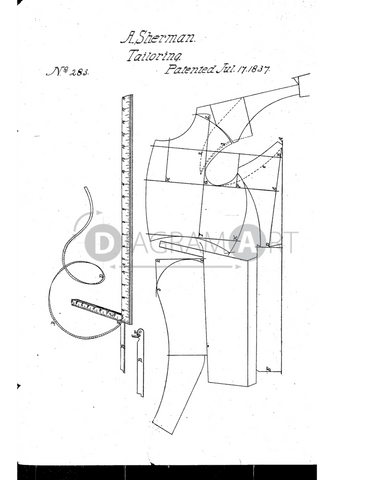 USPTO Patent_0000283 , Free Sketch - Diagramart Author, DiagramArt