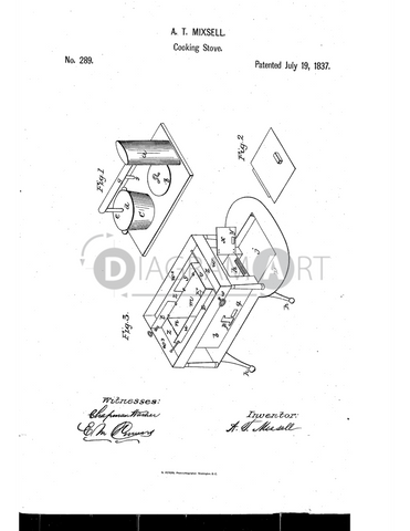 USPTO Patent_0000289 , Free Sketch - Diagramart Author, DiagramArt