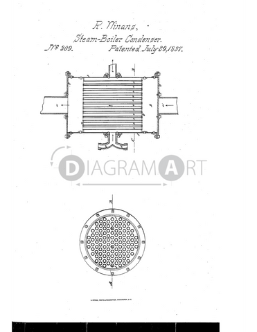 USPTO Patent_0000309 , Free Sketch - Diagramart Author, DiagramArt