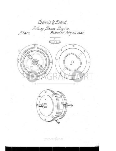 USPTO Patent_0000316 , Free Sketch - Diagramart Author, DiagramArt