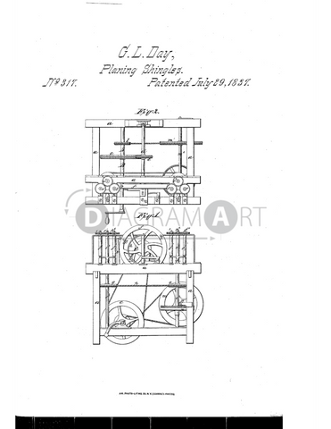 USPTO Patent_0000317 , Free Sketch - Diagramart Author, DiagramArt