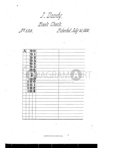 USPTO Patent_0000320 , Free Sketch - Diagramart Author, DiagramArt