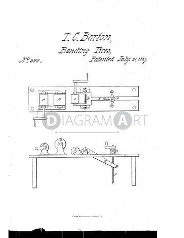 USPTO Patent_0000322 , Free Sketch - Diagramart Author, DiagramArt