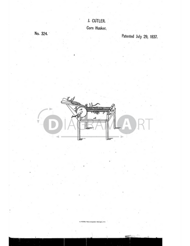 USPTO Patent_0000324 , Free Sketch - Diagramart Author, DiagramArt