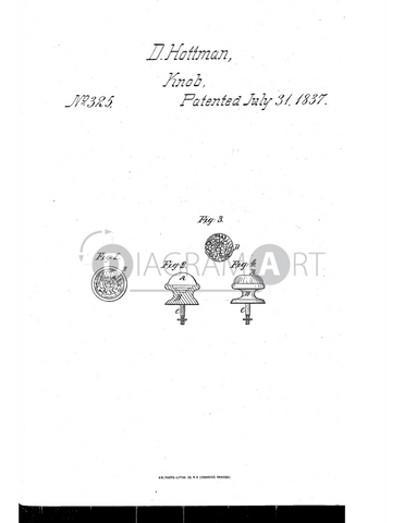USPTO Patent_0000325 , Free Sketch - Diagramart Author, DiagramArt