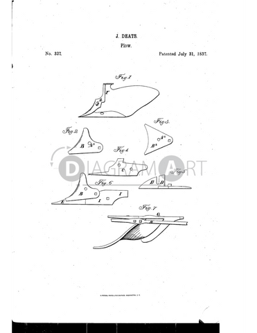 USPTO Patent_0000327 , Free Sketch - Diagramart Author, DiagramArt