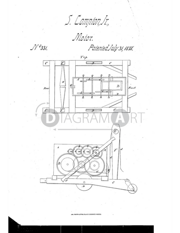 USPTO Patent_0000331 , Free Sketch - Diagramart Author, DiagramArt