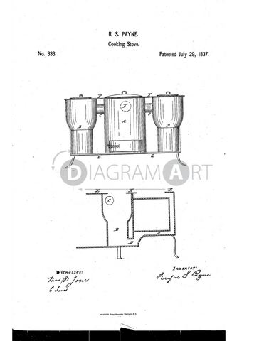 USPTO Patent_0000333 , Free Sketch - Diagramart Author, DiagramArt