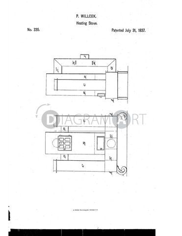 USPTO Patent_0000335 , Free Sketch - Diagramart Author, DiagramArt