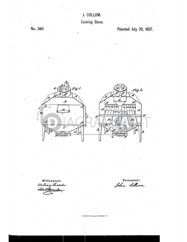 USPTO Patent_0000340 , Free Sketch - Diagramart Author, DiagramArt