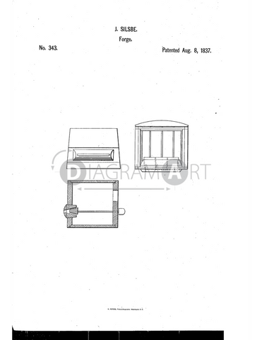 USPTO Patent_0000343 , Free Sketch - Diagramart Author, DiagramArt
