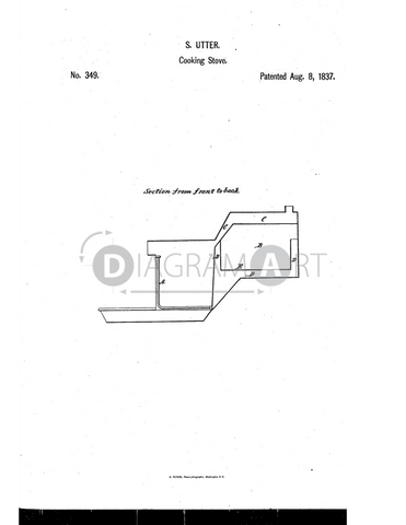 USPTO Patent_0000349 , Free Sketch - Diagramart Author, DiagramArt