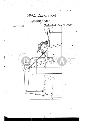 USPTO Patent_0000392 , Free Sketch - Diagramart Author, DiagramArt