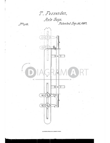 USPTO Patent_0000410 , Free Sketch - Diagramart Author, DiagramArt