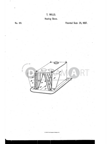 USPTO Patent_0000411 , Free Sketch - Diagramart Author, DiagramArt
