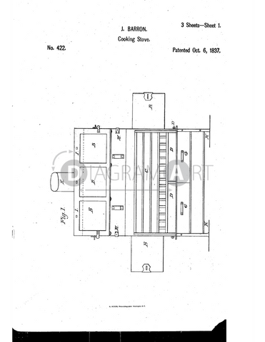 USPTO Patent_0000422 , Free Sketch - Diagramart Author, DiagramArt