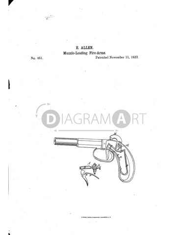 USPTO Patent_0000461 , Free Sketch - Diagramart Author, DiagramArt