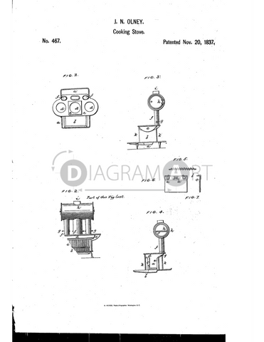 USPTO Patent_0000467 , Free Sketch - Diagramart Author, DiagramArt