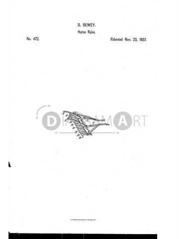 USPTO Patent_0000472 , Free Sketch - Diagramart Author, DiagramArt