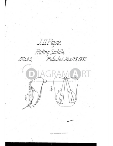 USPTO Patent_0000483 , Free Sketch - Diagramart Author, DiagramArt