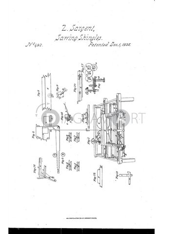 USPTO Patent_0000492 , Free Sketch - Diagramart Author, DiagramArt