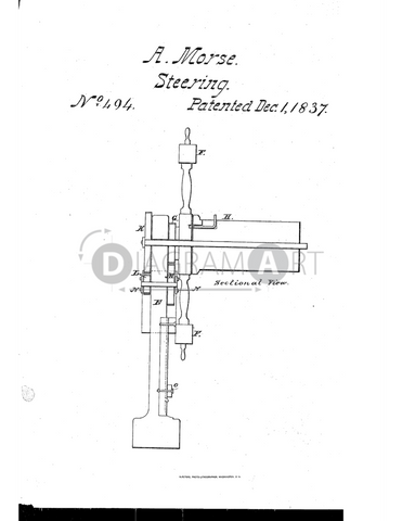USPTO Patent_0000494 , Free Sketch - Diagramart Author, DiagramArt