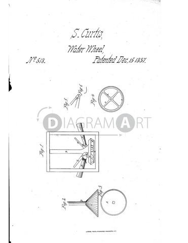 USPTO Patent_0000518 , Free Sketch - Diagramart Author, DiagramArt