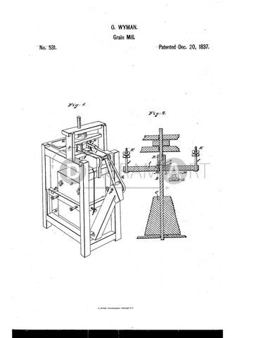 USPTO Patent_0000531 , Free Sketch - Diagramart Author, DiagramArt