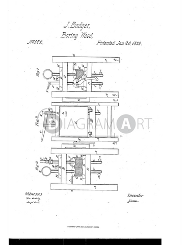 USPTO Patent_0000572 , Free Sketch - Diagramart Author, DiagramArt