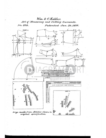 USPTO Patent_0000574 , Free Sketch - Diagramart Author, DiagramArt