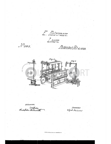USPTO Patent_0000595 , Free Sketch - Diagramart Author, DiagramArt
