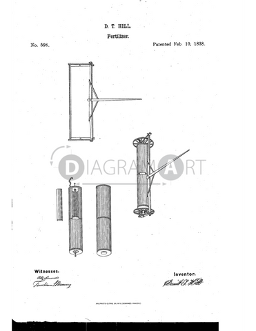 USPTO Patent_0000598 , Free Sketch - Diagramart Author, DiagramArt