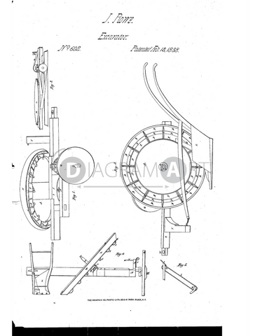 USPTO Patent_0000602 , Free Sketch - Diagramart Author, DiagramArt