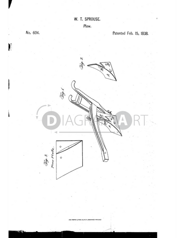 USPTO Patent_0000604 , Free Sketch - Diagramart Author, DiagramArt